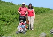Family at Valley of Rocks, Lynton