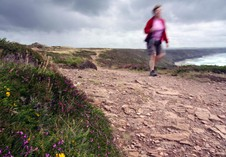 Walking the coast path near St Agnes. Photographer .Rose Pearson, Cornwall.