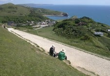 Taking in the view at Lulworth Cove. Photographer Tony Henegan, Hemel Hempstead.